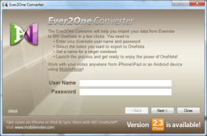 Evernote to OneNote convertor
