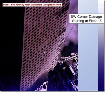 WTC7SouthWestCornerDamage