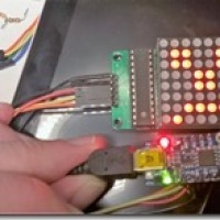 Using a Max7219 8x8 LED Matrix with an ATTINY85, like Trinket or DigiSpark